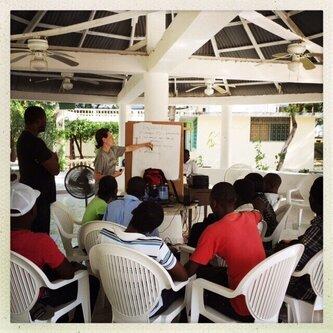 Brooke Wurst instructing a class
